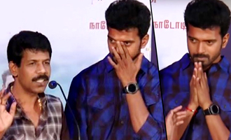 Director Bala's speech made Vikranth emotional at Thondan Audio Launchaac