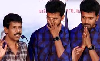 Director Bala's speech made Vikranth emotional at Thondan Audio Launchaac