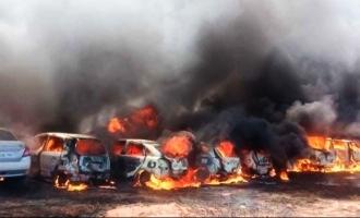 Video: 300 cars catch fire in Bangalore