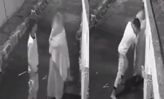 Man pulls down pants and tries to sexually abuse woman; Video caught on CCTV