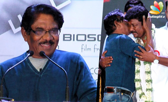 Bharathiraja hugs an emotional Parthiban at Koditta Idangalai Nirappuga AL
