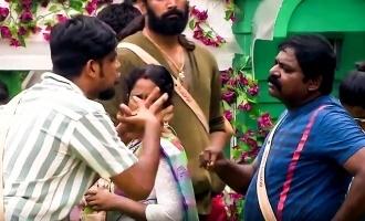 பிக்பாஸ் வீட்டின் முதல் சண்டை: எதிர்பார்த்தது போலவே அபிஷேக் தான்!