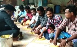 'பிகில்' வெற்றிக்காக விஜய் ரசிகர்கள் செய்த உருக்கமான வழிபாடு