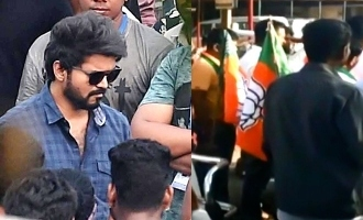 BJP protest against Thalapathy Vijay's 'Master' shooting in Neyveli
