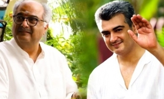 Boney Kapoor's official statement on Valimai update for Ajith birthday!