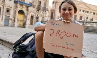 10 year old boy walks 2800 km from Sicily to London to meet his grandmother