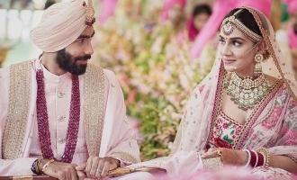 Bumrah and Sanjana Ganesan marriage photos viral