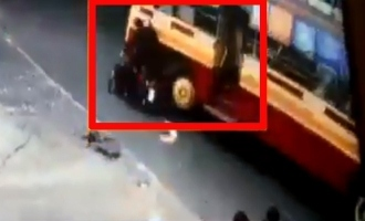 Tamil Nadu: Man dies as government bus runs over him, CCTV footage captured