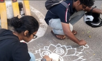 சென்னையில் கோலம் போட்ட 6 மாணவிகள் கைது: பெரும் பரபரப்பு