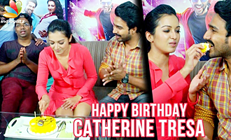 Catherine Tresa Gets a Birthday Surprise from VJ Koushik