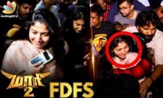 Sai Pallavi & Aishwarya Dhanush at Kasi Theatre FDFS