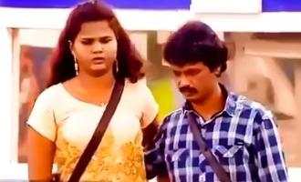 bigg boss tamil 3 cheran family visits daughter asks cheran to stay away from losliya freeze task
