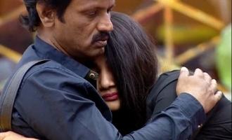 Cheran Losliya hug Bigg Boss 3
