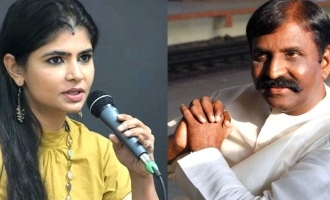 Chinmayi tweet about the doctorate for vairamuthu