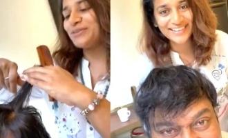 Sushmita Konidela posted a video along with Megastar Chiranjeevi