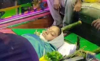 Chithra's body cremated amidst tearful farewell from friends and fans