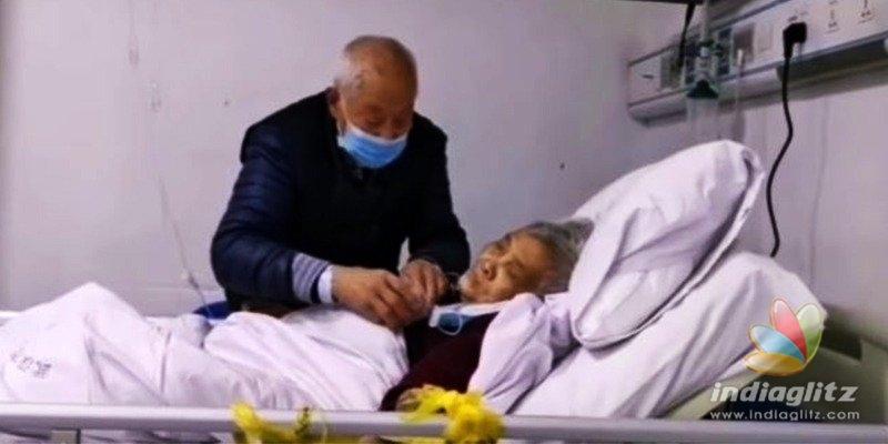 கொரோனா பாதித்த மனைவியை காதலோடு பார்த்துக்கொள்ளும் 87 வயது முதியவர்..! வீடியோ.