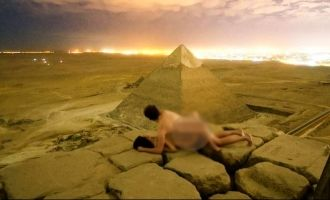 Picture of couple doing it on top of Egyptian Pyramid prompts international investigation