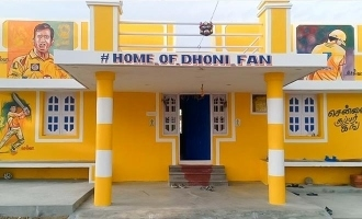 Dhoni fan change his house as yellow paint