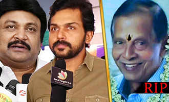 Karthi, Prabhu pays their last respect to director CV Rajendran