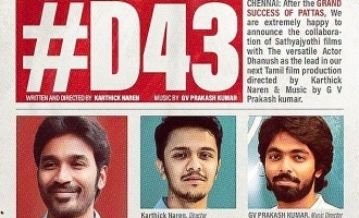 Breaking: Dhanush's D43 gets this sensational young heroine!