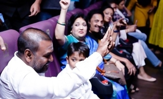 Lawrence catches Darbar with Superstar Rajnikanth family!