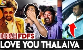 Rajini Fans Darbar FDFS Celebration at Rohini Theatre
