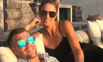 David Warner's wife jokes about sex being the reason behind his groin injury
