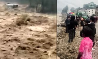 Karthi and Rakul Preet film crew caught up in  heavy rains and landslides