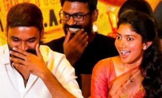 Dhanush shy reaction to anchor's statement in Maari 2 press meet