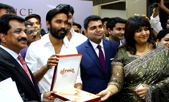 Dhanush inaugurates Prince Jewellery showroom in Coimbatore