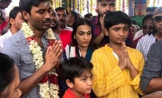 Dhanush's divine trip for Shivaratri!