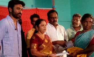 Dhanush donates 70 Lakhs to 125 Farmer Families