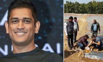 M.S. Dhoni turns farmer video goes viral