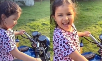 Thala daughter Ziva bike ride video goes viral