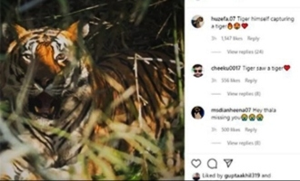 MS Dhoni posts picture from his outstanding visit to Kanha National park