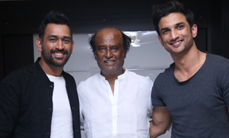 MS Dhoni meets Superstar Rajinikanth