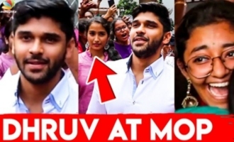 Dhruv Vikram entertains MOP Vaishnav girls