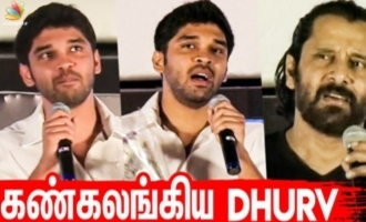I am nothing without my father - Dhruv Vikram emotional speech