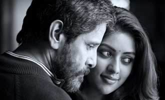 Where is Vikram's 'Dhruva Natchathiram' progressing?