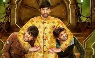 Santhanam's triple fun 'Dikkiloona' first look released