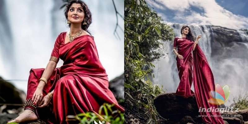 Actress does waterfall photo shoot after eighteen years