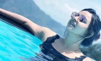 Bhagyalakshmi serial actress Divya Ganesh's bathtub and swimming pics scorch the internet