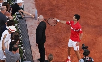 Novak Djokovic gifts racket to young fan after winning French Open; Boy's reaction goes viral