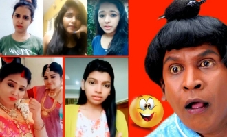 Pretty girls pay tribute to Vadivelu, Santhanam, Captain & others in LOL video
