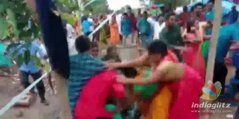 Bride and Bridegroom families attack each other violently for this silly reason!