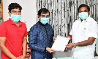 தமிழக முதல்வரை சந்தித்த நடிகர் விவேக்: நற்செய்தி வரலாம் என டுவீட்!
