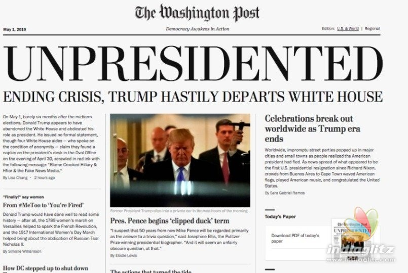 Donald Trump resignation news goes viral around the globe