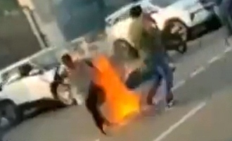 Shocking: Video shows mother and daughter setting themselves on fire
