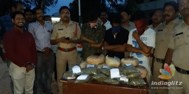Three engineering students arrested while smuggling Ganja